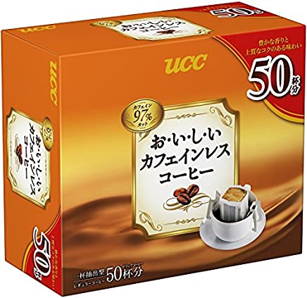 UCC おいしいカフェインレスコーヒー ドリップコーヒ 350g 7g×50袋