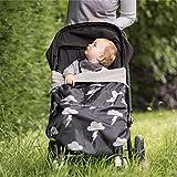 BundleBean GO - Fußsack für Kinderwagen & Autositze/Babytragen-Wetterschutz/Picknickdecke - wasserdicht (Silberner Blitz)