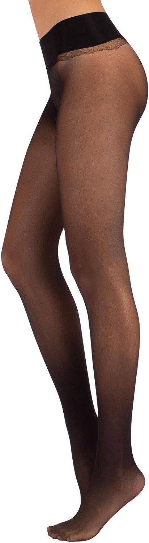 Calzitaly Seamless Sheer Tights with Comfortable Waistband, 15 Dernier Pantyhose