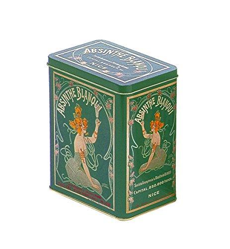 Franzosich Vintage metalen doos 12X8X15Cm retro reclame alcohol blanqui absinth
