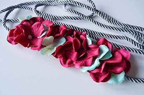 Cinturón de flores Buganvilla y verde aguamarina