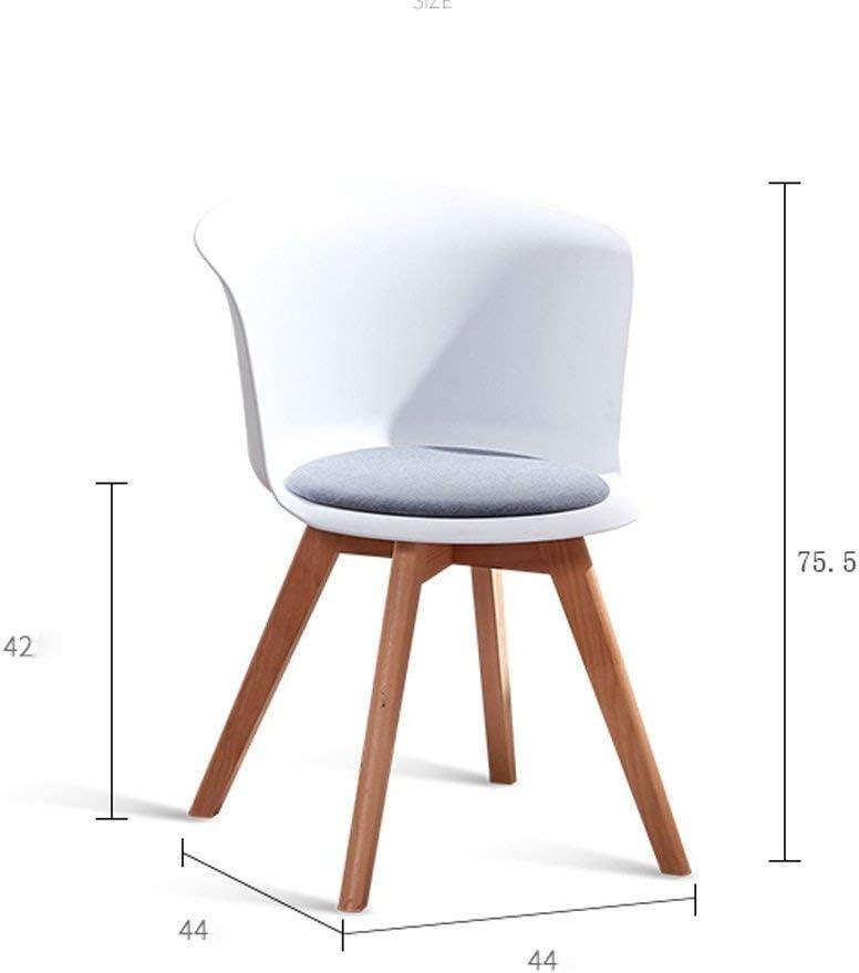 QNN Accueil Mode Nordique Créatif Blanc Chaise de Salle À Manger Maison Moderne Minimaliste Chaise de Bureau Tabouret En Bois Massif Dossier Loisirs Chaise Chaise,Bleu Blanc