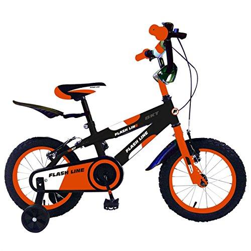 Mediawave Store Bicicletta Flash Line Taglia 12 Bici FLA12 per Bambini età 2-5 Anni (Arancio)