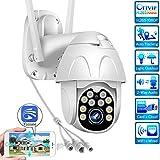 Cámara Domo IP PTZ, cámara de vigilancia WiFi, cámara HD 1080P para Exteriores, IR/visión nocturna/IP65 Impermeable/Advertencia Deportiva/cámara de Seguridad, Yoosee, para Exteriores/Garaje/Empresa