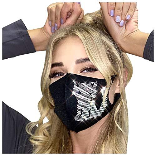 Mode Mundschutz mit Punktbohr katzenmotiv,Waschbar Wiederverwendbar und Atmungsaktiv Gesichtsschutz für Outdoor Sport Radfahren Laufen,Erwachsene Bandana