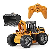 強化された合金版リモコンブルドーザーキッズのおもちゃの車のモデルシミュレーション電気工学RC車の大充電フォークリフトの男の子のクリスマスギフト34cm y (Size : 3-BATTERY)