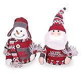 Santa Snowman Candy Box Gift Jar Doll Doll Lid Desktop Decoration Jewelry Box