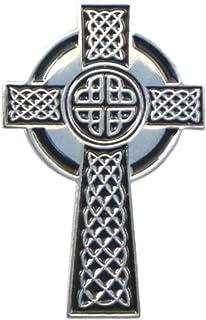 Mainly Metal ™ - Spilla smaltata con croce celtica antica (25 mm)