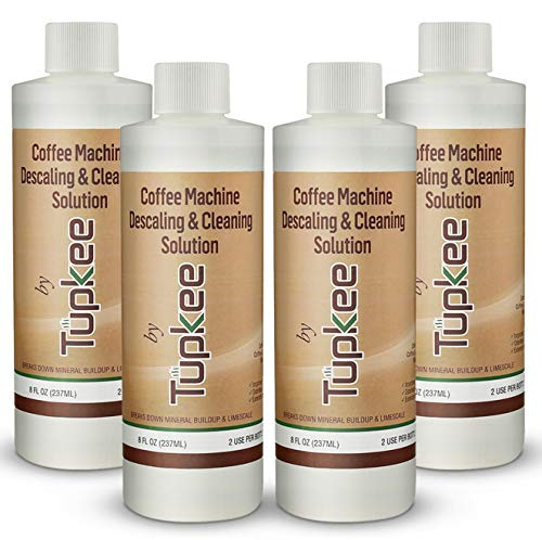 Descaling Solution Coffee Maker Cleaner – Universal Descaler for Keurig, Nespresso, Delonghi, Ninja and All Single Use Coffee and Espresso Machines – Pack of 4
