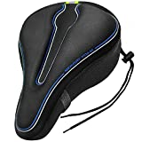 Gincleey Sport Bike Seat Cushion Cover Pad with Memory Foam for Bicycle Seat Saddle Anti-Slip Bike Saddle Cover for Spin Stationary Cruiser, Mountain Road Bike Outdoor Cycling