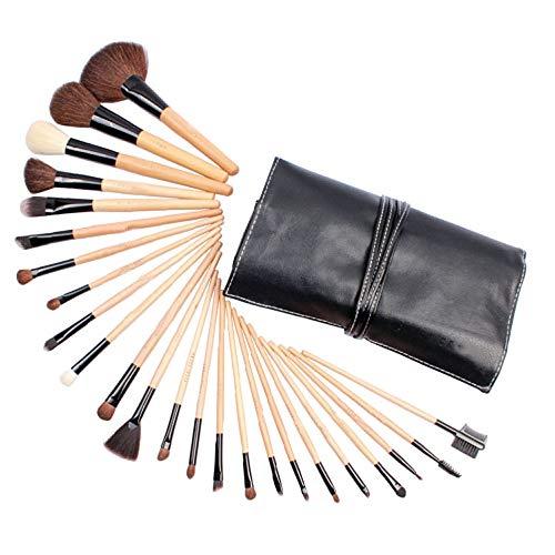 Brosses 24pcs pinceaux de Maquillage cosmétiques mis Poudre de Base Eyeliner Fard à paupières Pinceau à lèvres pour Belle Femme Maquillage pour Les Femmes (Color : 02, Size : Libre)