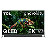 TCL 75X915 8K QLED Fernseher Smart TV (HDR Premium 1000 nits, Dolby Vision Atmos, ONKYO Audiosystem, IMAX Enhanced, Android TV, Prime Video, Google Assistant & Alexa kompatibel, HDMI 2.1)