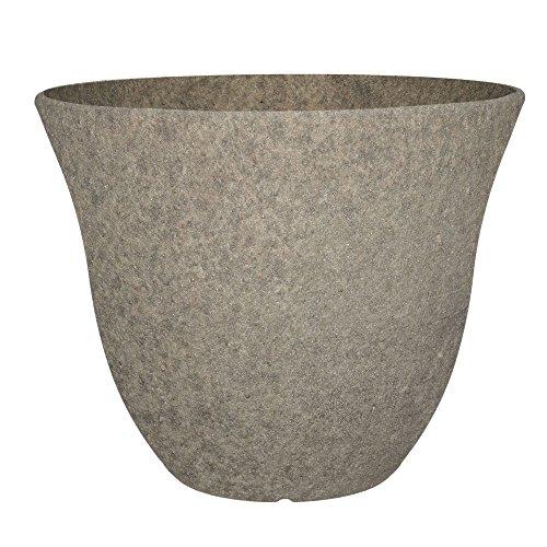 "Honeysuckle Planter, Patio Pot, 15"" Stone"