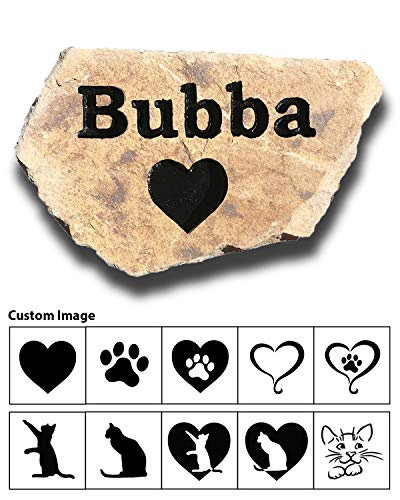 Pet Memorial Stone - Personalized Engraved Real Natural Stone - Dog, Cat, Small Animal - Grave Marker Headstone, Garden Marker, Indoor Outdoor – Loss of Pet Gift - Pet Remembrance Gift (Ledgestone)