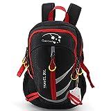 ハイキングバックパック 軽量 登山リュック ナイロン デイバッグ メンズ レディース 親子バッグ リュック キッズ用 アウトドア 子供 軽量 20L (black)