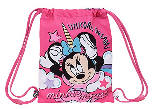 safta 612012855 Saco Plano Junior Minnie Mouse, Rosa, Único