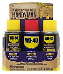 Handyman trio kit contains 3 heavy-duty lubricants for a variety of lubrication jobs and maintenance. 50-state VOC compliant solution offers effective performance on metal to metal friction points, cables, pulley, hinges, heavy duty machinery, and mu...