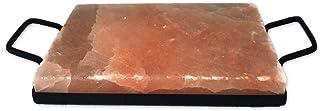 SudoreWell® Pierre à griller en sel Chef 30 x 20 x 4 cm avec support