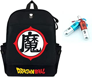 Dragon Ball Z Backpack with Capsule Corp Keychain INCLUDED AS A FREE GIFT,(G)