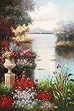 zgwxp77 Carteles y murales Abstractos de paisajes de Jardines sobre Lienzo sobre Cuadros Decorativos de la Sala de estar50x70cm sin Marco