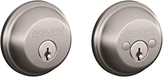 Schlage B62CSSK V 626 B62CSV626 Cylinder Deadbolt, Brushed Chrome