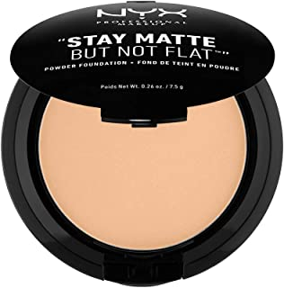NYX PROFESSIONAL MAKEUP Stay Matte but not Flat Powder Foundation, Warm Beige, 0.26 Ounce