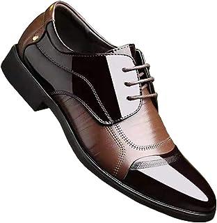 [ALSYIQI]ビジネスシューズ メンズ 紳士靴 外羽根 黒 レザー シューズ レースアップ 革靴 通勤 冠婚葬祭 営業マン 防滑 軽量 大きいサイAL-2527