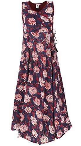 GURU SHOP maxi vestido de verano para mujer, algodón, largo y midi ropa alternativa rojo S