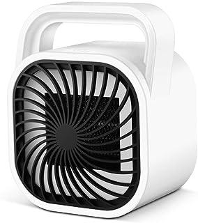 MKWEY Calefactor de Aire Caliente Portatil, Calentador Eléctrico Cerámico PTC Cerámico 500W Bajo Consumo Termoventilador de Espacio Personal con Oscilación Automática