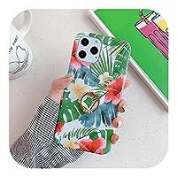 高級フラワーソフトシリコンリングホルダーfor iPhone 12 Mini 11 Pro XS MAX X XR SE 2020 7 8Plus耐衝撃カバーcapsa用電話ケース-Style 15-for iPhone 8 plus
