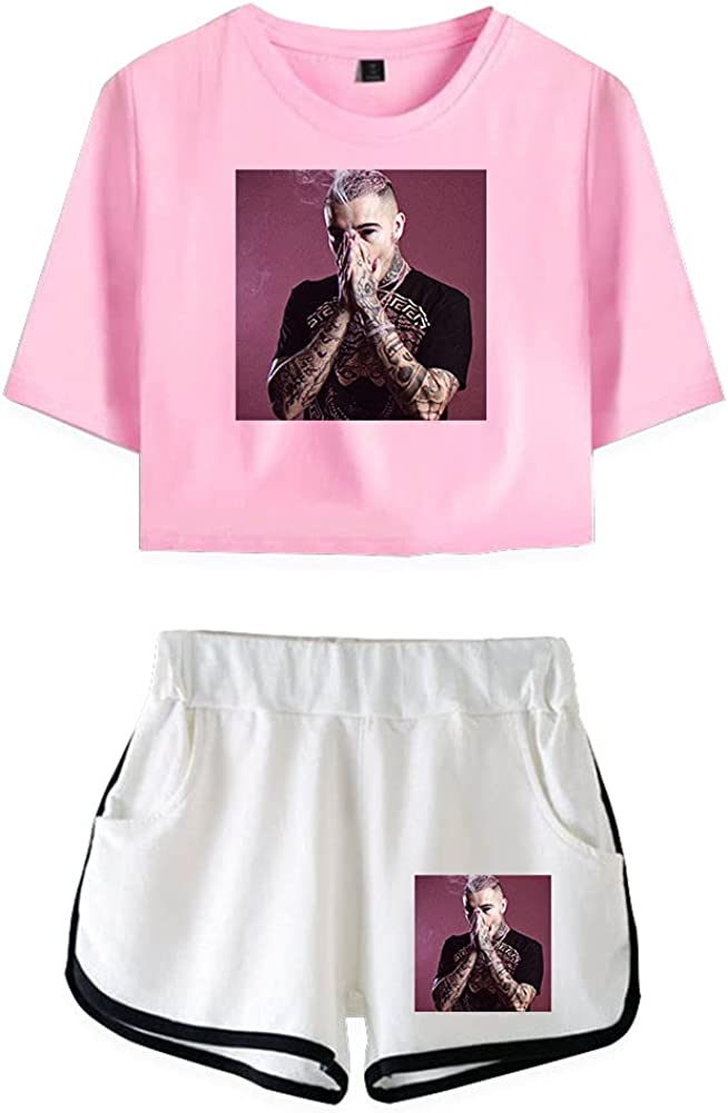 Tydres Gera MX 2 Piece Sets Casual Two Piece Suit Woman Girls Short & Tops Suit Singer Short Sleeve (PW-KB03585,S)
