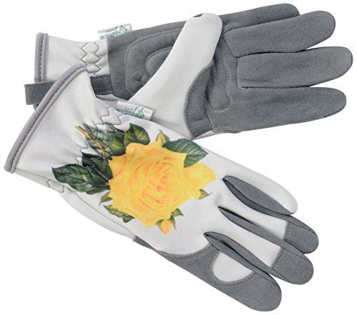 Der RHS-Kollektion von Blattgold Hampton Damen Hirschleder Leder Gartenhandschuhe, grau und gelb, 32x 11x 4cm