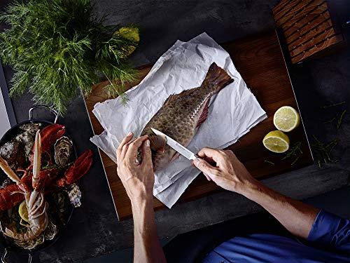 Wusthof Ikon (1090570601) - Bloque para Cuchillos, Bloque de Diseño de Madera de Fresno Marrón, con 6 Cuchillos de Chef…