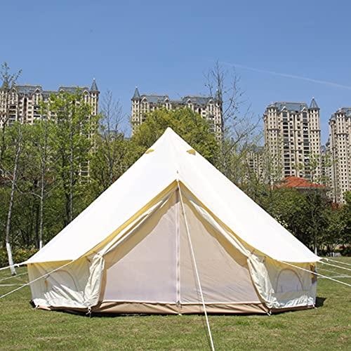 JTYX Tiendas de yurtas Tienda Bell Tienda de campaña piramidal Impermeable de 4...