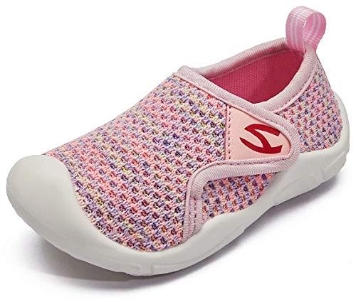 GUBARUN Kinder Hallenschuhe Jungen Sneakers Atmungsaktive Sportschuhe Laufschuhe Mädchen Leichte Turnschuhe(Rose,21 EU)