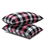 JY Cotton Fabric with Fresh Microfiber Fiber Filling Soft Sleeping Pillow for Bed 16 x 26 Inch Pack of 2
