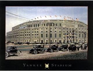 Yankee Stadium by Darryl Vlasak 24x32 Poster, Vintage Yankee Stadium Print, Classic Yankee Stadium, Old Fashion, vintage Cars, New York, Baseball Field, Vintage Baseball Field Print, Amazing Vintage Art, Sports Memorabilia