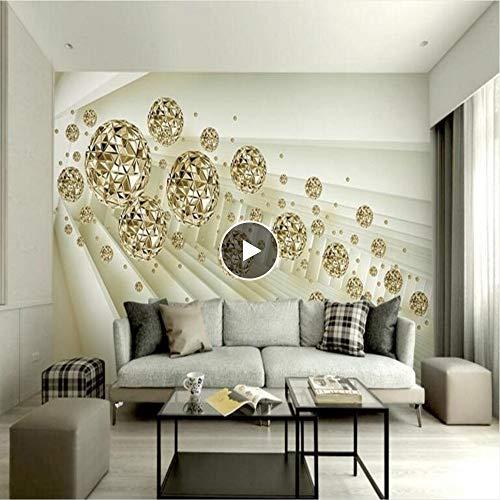 Meaosy aangepaste behang 3D abstracte ruimte achtergrond gouden bal tv achtergrond muur woonkamer slaapkamer decoratieve schilderij 400x280cm