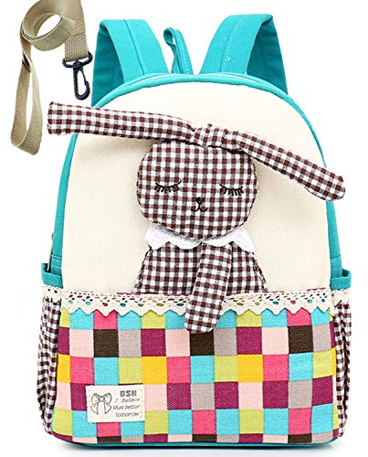Kids Children Backpack Organizer with Leash Sling Rabbit for Boy Unisex(Blue)