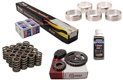 Torque Cam & Lifter kit Valve Springs, Cam Bearings & DBL. Row Timing Set compatible with Chevrolet 283 305 327 350 Chevy Camshaft (Torque Cam)