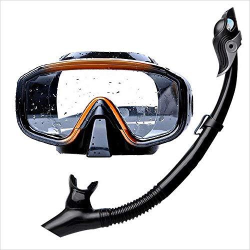 Schwimmbrille Taucherbrille Ausgeglichenes Glas Taucherbrille wasserdicht und Anti-Fog-Objektiv Sportbrillen und Schnorchel for Männer Schnorchel Set Stoßfest Schwimmbrille for Männer Frauen Jugendlic