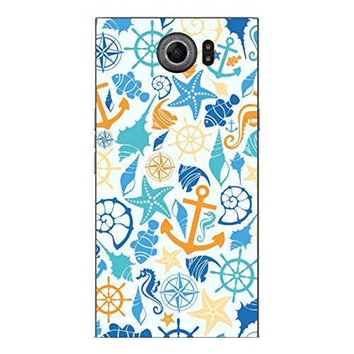 Disagu SF-sdi-4343_1037 Design Folie für BlackBerry Priv Rückseite - Motiv Meeresmuster blau-gelb