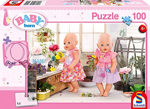 Schmidt Spiele- Baby Born - Puzzle Infantil (100 Piezas), diseño de Hadas, Color carbón (SCH56300)