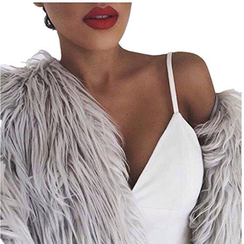 haoricu Women Coat, Fall New Ladies Womens Warm Coat Jacket Winter Outerwear (S, Gray)