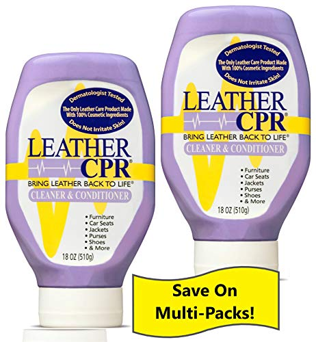 Leather CPR Cleaner & Conditioner By CPR Cleaning Products (Value 2-Pack of 18oz Bottles) Restores & Protects Leather Furniture, Purses, Car Seats, Jackets & More