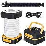 GlobaLink Lanterna da Campeggio Solare LED Ricaricabile Torcia Laterna Pieghevole Luce di ...