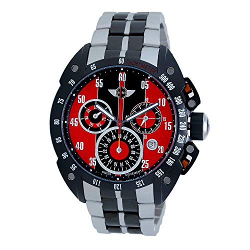 MINI Reloj Cronógrafo para Hombre de Cuarzo con Correa en Acero Inoxidable MINI160120