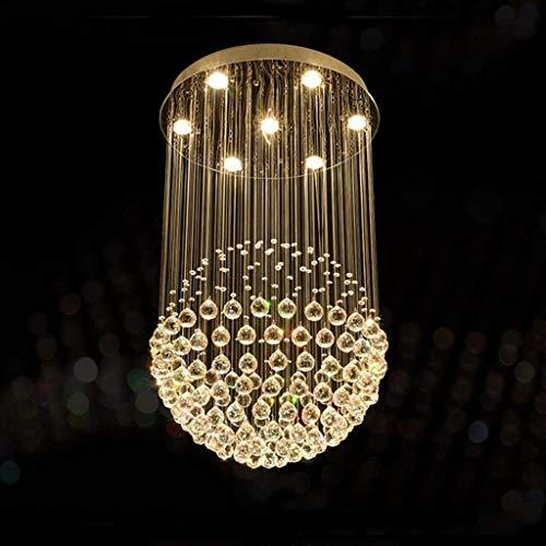 Moderne eenvoudige LED kristallen kroonluchters, drie-kleuren dimmen, roestvrij staal plafondplaat, K9 luxe kristallen bal hanger, klassieke woonkamer slaapkamer lampen