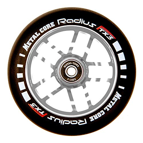 Metal Core Rueda Radius para Scooter Freestyle, Diámetro 120 mm (Plateado)