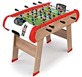 Smoby - Powerplay 4 in 1 Babyfoot - Ping Pong + Hockey and Billiards - Wooden Structure - Accessories Included - 640001